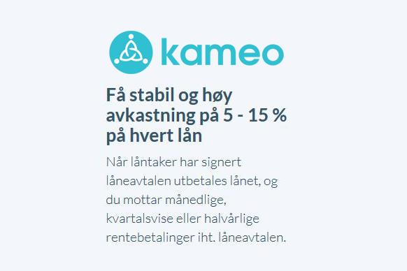 Jeg tester ut crowdlending med Kameo